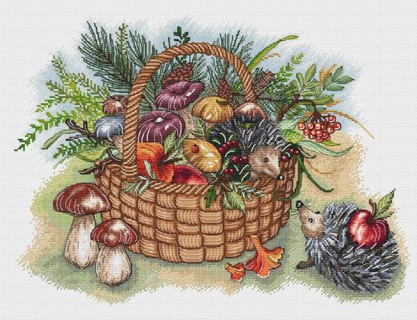 Сбор урожая. схема для вышивки Александры Кулаковой