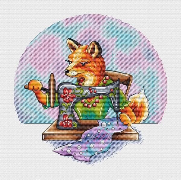 Лисичка-рукодельница. Авторские схемы Александры Кулаковой